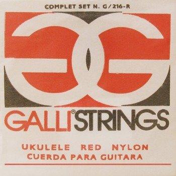 struny do ukulele sopranowego GALLI G-216-R Red Nylon