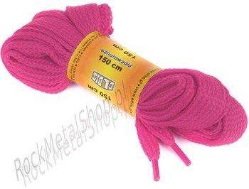 sznurowadła RÓŻOWE sz.1,5cm, dł.150cm (150p)