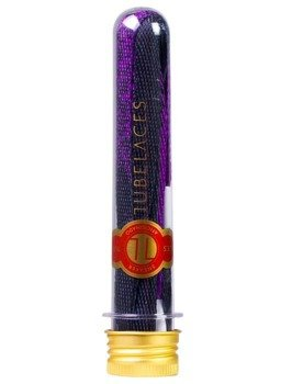sznurowadła TUBELACES - GOLD FLAT SPLATTER PURPLE/BLACK (130 cm)
