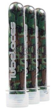 sznurowadła TUBELACES - SPECIAL FLAT CAMO GREEN (140 cm)