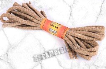 sznurowadła okrągłe, kolor beżowy, dł. 150 cm (150)