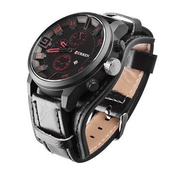 zegarek MILITARY CURREN BLACK RED