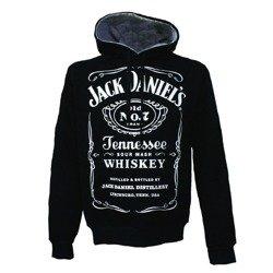 bluza JACK DANIELS - BLACK czarna kangurka, z kapturem