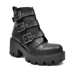 botki damskie ALTERCORE czarne (PATTY BLACK)
