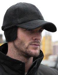 czapka bejsbolówka BLACK, zimowa z polaru