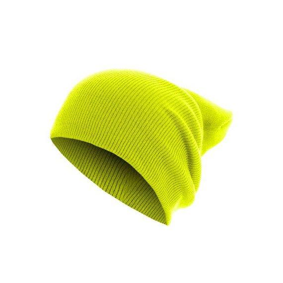 czapka zimowa MASTERDIS - BEANIE BASIC FLAP LONG neonyellow