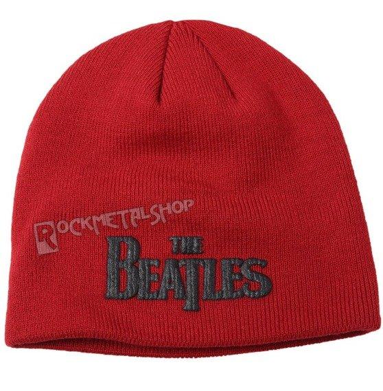 czapka zimowa THE BEATLES - LOGO czerwona