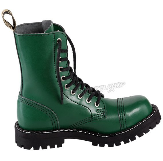glany STEEL - FULL GREEN (10 dziurek)