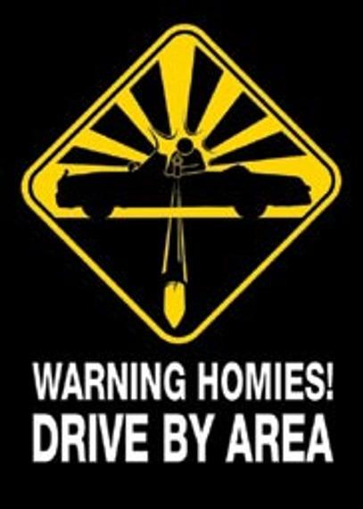 plakat WARNING HOMIES