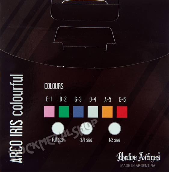 """struny do gitary klasycznej MEDINA ARTIGAS """"ARCO IRIS"""" 320 kolorowe"""