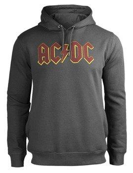 bluza AC/DC - LOGO, z kapturem, szara