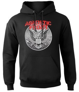 bluza AGNOSTIC FRONT - AGAINST ALL EAGLE, kangurka z kapturem