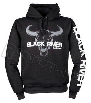 bluza BLACK RIVER - BLACK'N'ROLL czarna, z kapturem