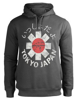 bluza RED HOT CHILLI PEPPERS - TOKYO JAPAN z kapturem, szara