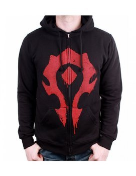 bluza WARCRAFT - HORDE SPRAY, rozpinana z kapturem
