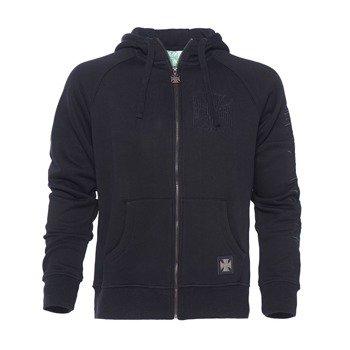 bluza WEST COAST CHOPPERS - LASER black, rozpinana z kapturem