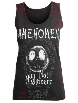 bluzka damska AMENOMEN - I'M NOT NIGHTMARE na ramiączkach (OMEN073DAR ALLPRINT RED)