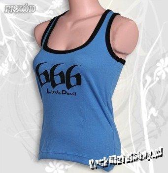 bokserka damska 666 LITTLE DEVIL błękitna