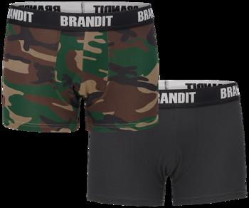 bokserki BRANDIT LOGO - 2 pary WOODLAND + BLACK