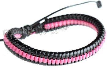 bransoletka czarno-różowa