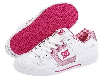 buty damskie DC - PURE SE  (WHITE/C.PINK/PINK)