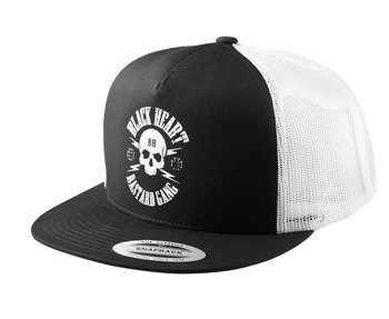 czapka BLACK HEART - BASTARD SKULL
