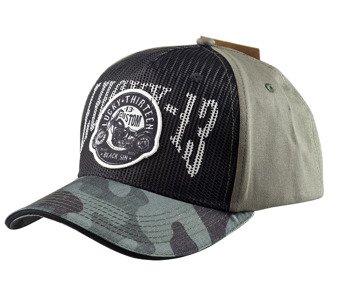 czapka LUCKY 13  - BLACK SIN CAMO TRUCKER