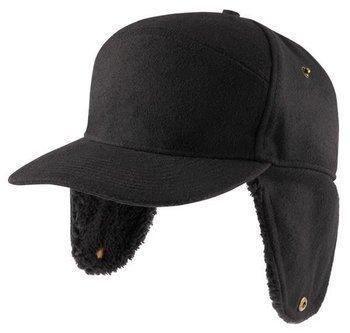 czapka z daszkiem BLACK, zimowa