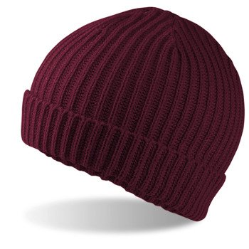 czapka zimowa BURGUNDY