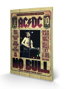 dekoracja/obraz na drewnie AC/DC - NO BULL