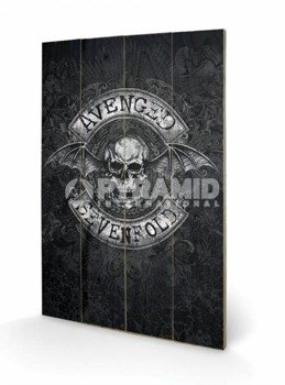 dekoracja/obraz na drewnie AVENGED SEVENFOLD (DEATH BAT)