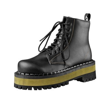 glany ALTERCORE czarne 8-dziurkowe (653 VEGAN BLACK/YELLOW)