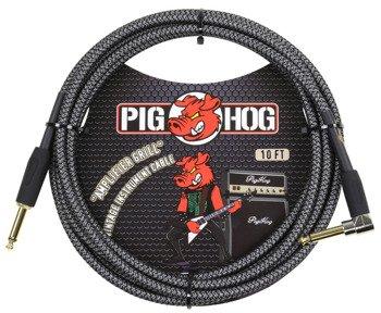 "kabel do gitary PIG HOG ""Amp Grill"" jack kątowy-prosty 3m"