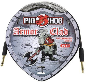 "kabel do gitary PIG HOG ""Armor Clad"" jack prosty, 3m"