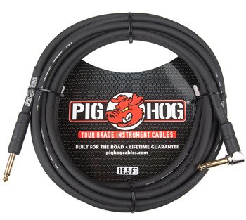 kabel do gitary PIG HOG PH186R jack kątowy-prosty, 5,6m
