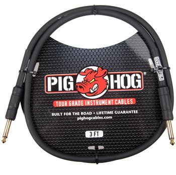 kabel do gitary PIG HOG PH3 jack prosty, 0,9m