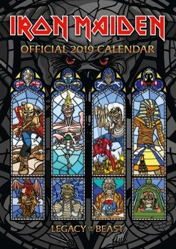 kalendarz IRON MAIDEN 2019