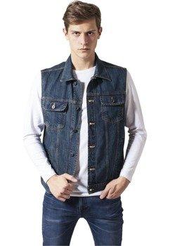 kamizelka DENIM VEST denimblue jeansowa