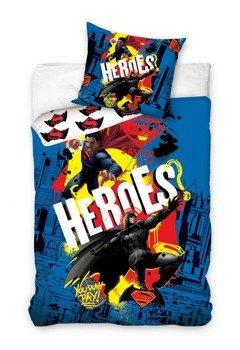 komplet pościelowy BATMAN & SUPERMAN, kołdra (160*200) + poduszka (70*80)