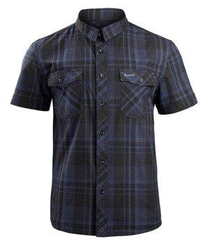 koszula ROADSTAR SHIRT, 1/2 SLEEVE - BLACK/BLUE