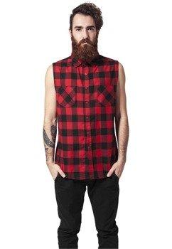 koszula SLEEVELESS CHECKED FLANELL blk/red