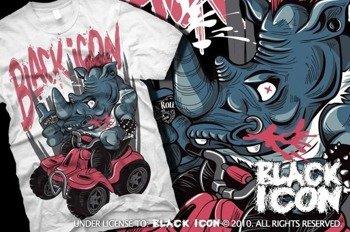 koszulka BLACK ICON - ROCK N RINO (MICON109 WHITE)