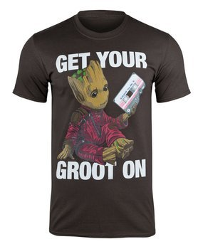 koszulka GUARDIANS OF THE GALAXY - GET YOUR GROOT brązowa