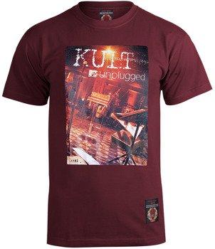 koszulka KULT - UNPLUGGED bordo