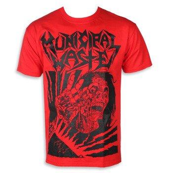 koszulka MUNICIPAL WASTE - SKELBOT RED