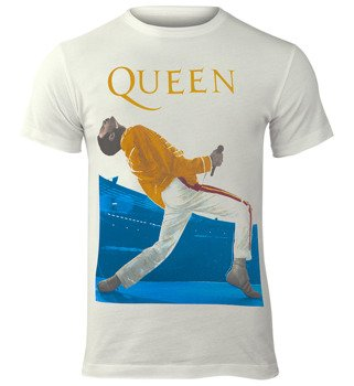 koszulka QUEEN - FREDDIE MERCURY TRIANGLE vintage white