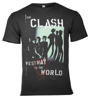 koszulka THE CLASH - WESTWAY TO THE WORLD ciemnoszara