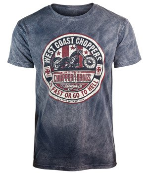koszulka WEST COAST CHOPPERS - 1972 DRAGS VINTAGE, barwiona
