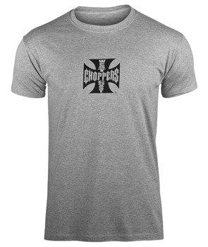 koszulka WEST COAST CHOPPERS - IRON CROSS ATX GRAY