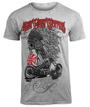 koszulka WEST COAST CHOPPERS - MECHANIC GREY, barwiona